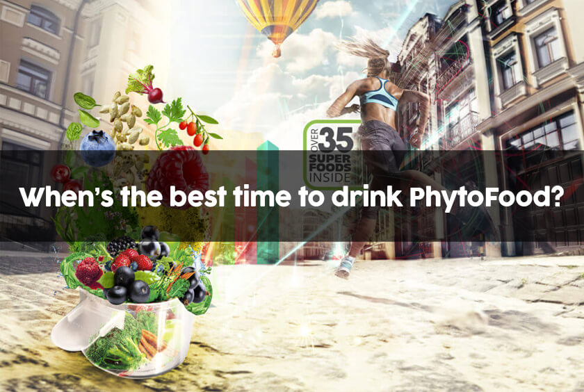 when is the best time to juice or drink PhytoFood?