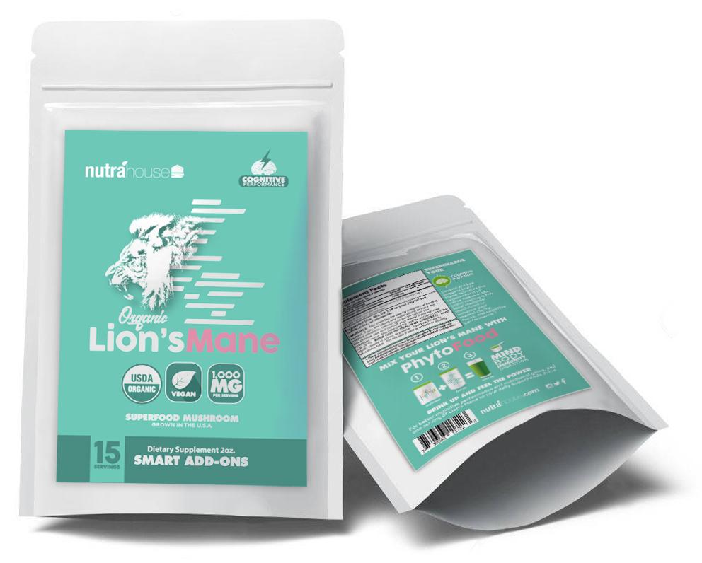 Lion's Mane mushroom add-on for superfood greens juice, PhytoFood