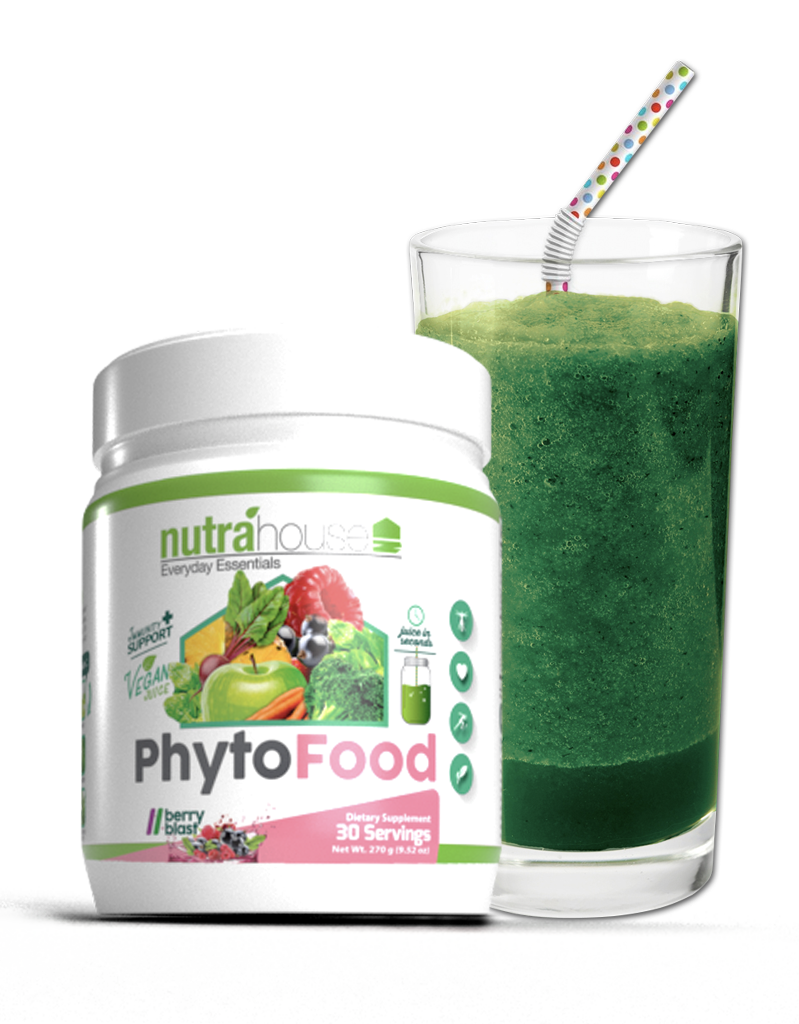 PhytoFood Greens Superfood Supplement for immunity, nutrition, gut health, wellness, and performance